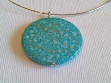 Acrylic disc necklace